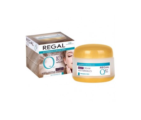 Regal Q10+ Crema  Noche Antiarrugas Piel Normal Y Mixta 50 ml