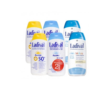 Ladival® Pack Pieles sensibles SPF50+  200ml + After sun 200ml + Niños After-Sun 200ml