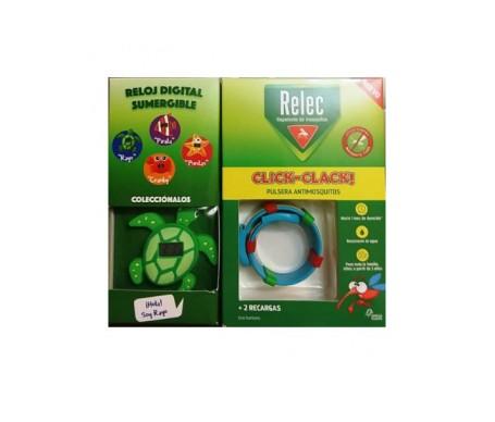 Relec Click-clack pulsera + reloj tortuga