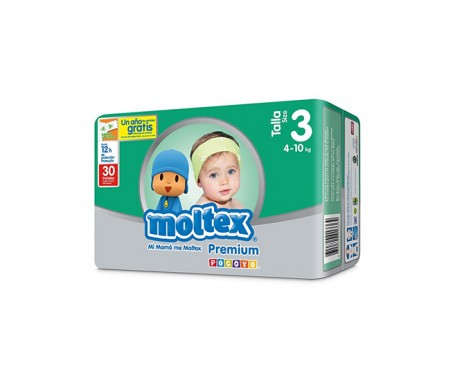 Moltex Premium Pañales Talla 3 4-10kg 40 pañales