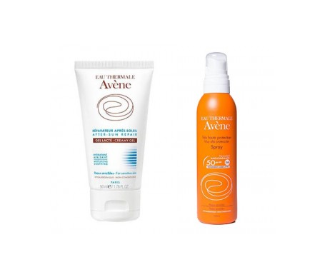 Avène Solar Pack spray SPF50+ 200ml + After sun 50ml