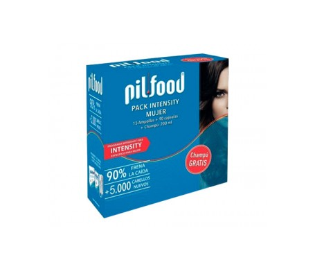 Pilfood Pack Intensity Mujer 15 Ampollas + 90 Capsulas + Champu