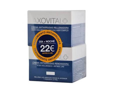 Axovital Pack Tratamiento Antiarrugas crema antiarrugas día 50ml + crema noche 50ml