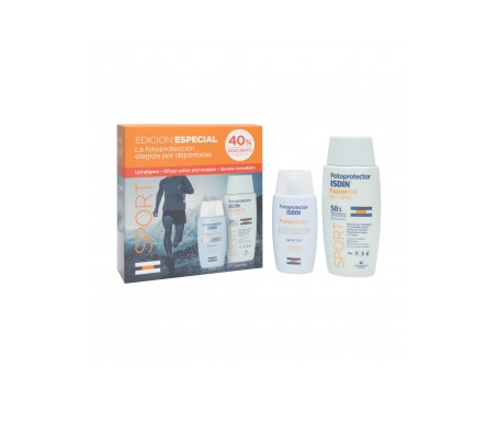 Fotoprotector ISDIN® Pack Sport fusion gel  SPF50+100ml + fusion water SPF50+50ml