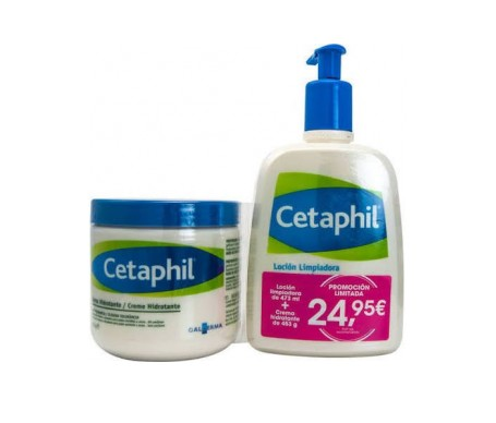 Cetaphil Pack crema hidratante 453g + loción limpiadora 473ml