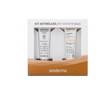 Sesderma Kit Antibolsas Angioses contorno de ojos 15ml+ C-Vit contorno de ojos 15ml