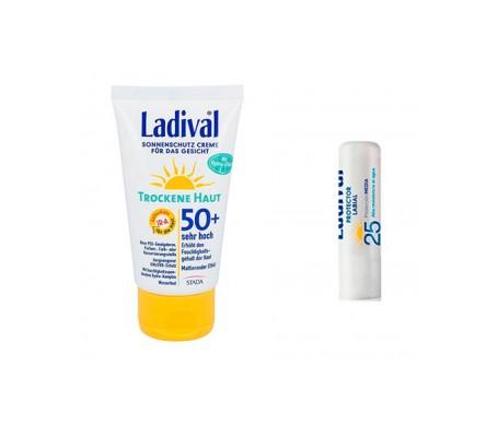 Ladival® Pack Pieles Secas SPF50+ Crema Fluida Fotoprotección 50ml + Labial SPF25+