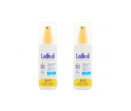 Ladival® Pieles sensibles SPF30+ Oil free spray  2udsx150ml