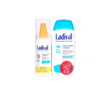 Ladival® Pack Pieles Sensibles  SPF15+ Spray Oil Free 150ml + After Sun 200ml
