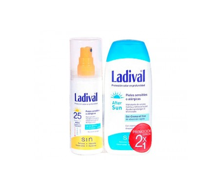 Ladival® Pack Pieles Sensibles SPF15+ Spray gel 150ml + After Sun 200ml