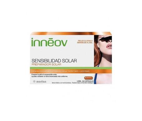Innéov Sensibilidad Solar Preparador Solar 30 Caps + 30 Caps