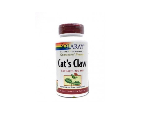 Solaray Uña Gato Cáps 200mg