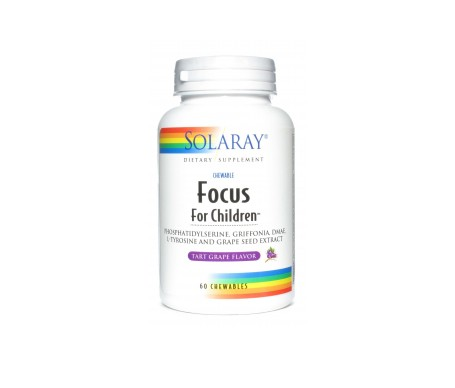 Solaray Focus For Children 60 Comp Masticable