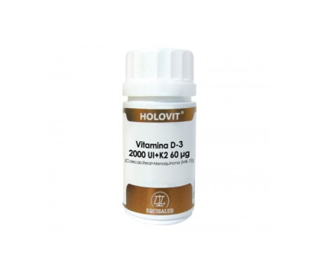 Holovit Vitamine D3 2 000 UI + K2 60åµg 50 gélules