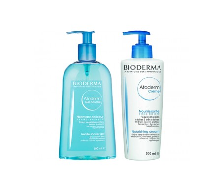 Bioderma Atoderm Pack crema 500ml  +  Atoderm gel de ducha 500ml