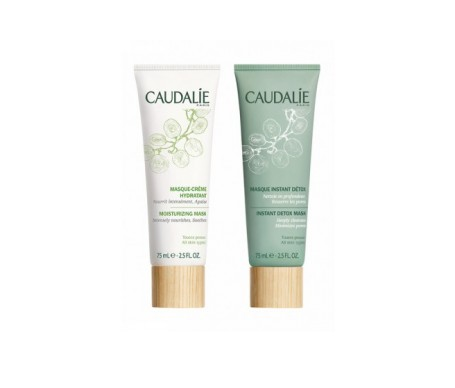Caudalie moisturising mask 75ml + detoxifying mask 75ml