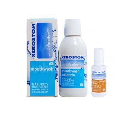 Xerostom Pack boca seca colutorio 250ml  + spray 6,25ml