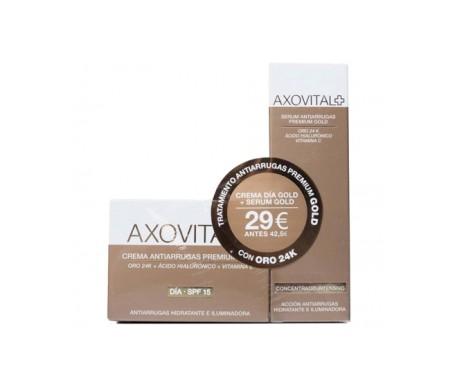 Axiovital Treatment Pack Anti-wrinkle Premium Gold cream 50ml + serum 30ml