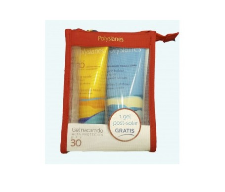 Polysianes Neceser Pack gel nacarado SPF30+ 125ml + Klorane gel fresco calmante + 200ml