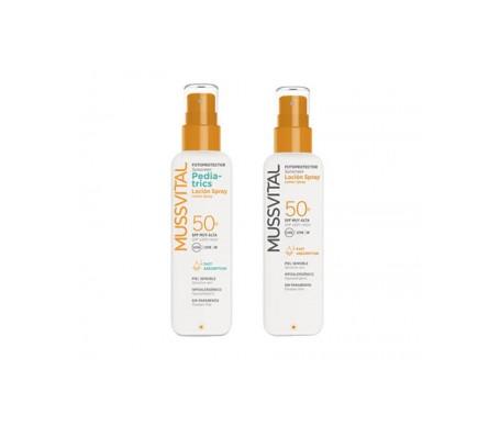 Mussvital Pack Solar loción spray pediatrics SPF50+ + loción SPF50+