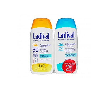 Ladival® Pack Pieles sensibles o alérgicas SPF50+ Gel-crema oil free + After sun 200ml