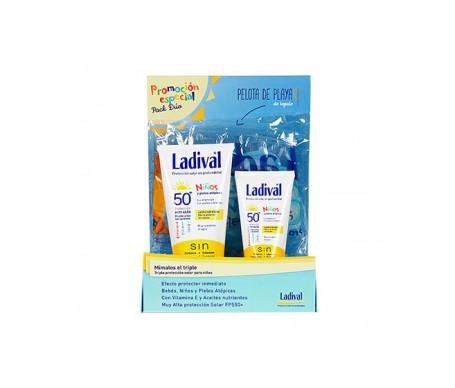 Ladival® Niños Pack SPF50+ Crema Pieles Atópicas 150ml + Formato viaje 75ml y Regalo