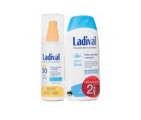 Ladival® Pack  Pieles Alérgicas Sensibles SPF30+ Spray oil free 150ml + After sun 200ml