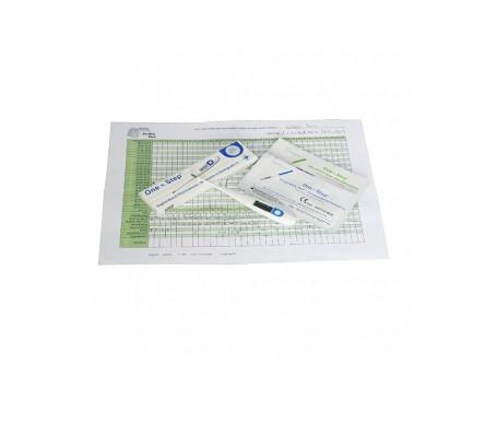 One Step tests de ovulación 15uds + pruebas de embarazo 5uds + termómetro digital
