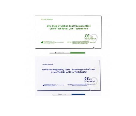 One Step pruebas de embarazo 10uds + tests de ovulación 30uds