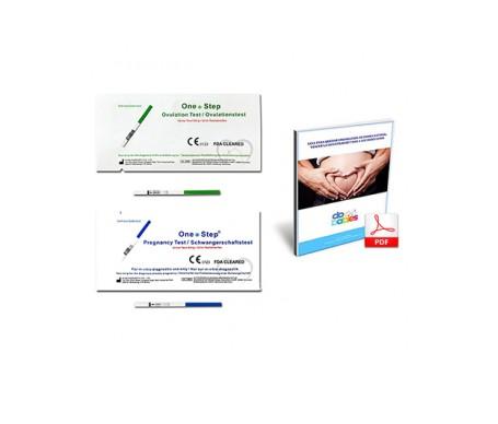 One Step tests de ovulación 40uds + pruebas de embarazo 10uds + libro guía en PDF