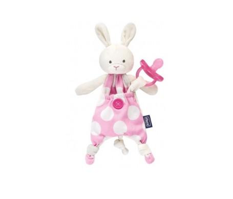 Chicco Guarda Chupete Pocket Conejito Rosa