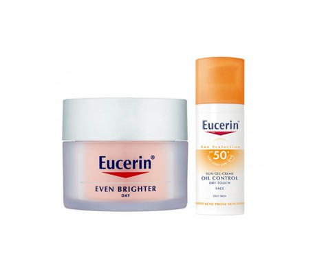 Eucerin®Pack Even Brighter SPF30 Crema de Día Despigmentante 50ml + Eucerin Sun Oil Control Dry Touch SPF 50 20ml