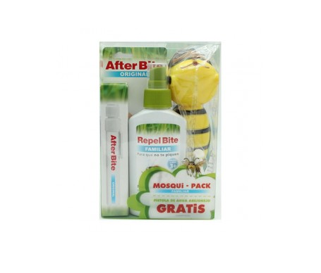 Mosqui-Pack Familiar: After Bite Original 14ml + Repel Bite Xtreme repelente de insectos 100ml + Regalo