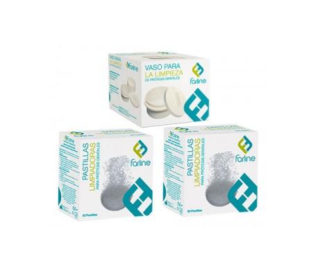 Farline Pack pastillas limpiadoras 2x32 tabletas + Repuesto
