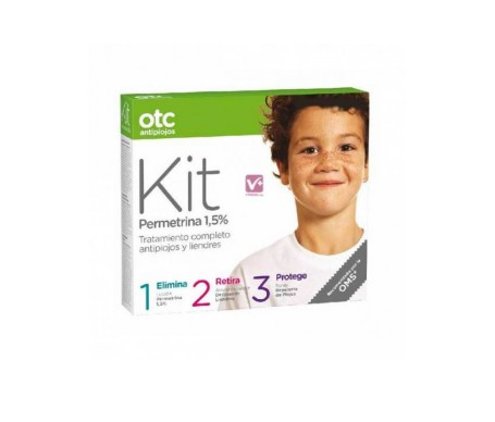 Kit OTC antipiojos Kit 1 2 3 Permetrina 1,5% +  Regalo: Mochila