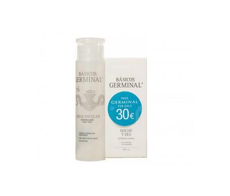 Germinal Básicos Pack Agua Micelar 200ml + Crema Noche y Día 50ml