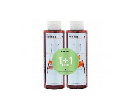 Korres Pack Shampoo per capelli colorati con girasole e tè di montagna 2x250ml