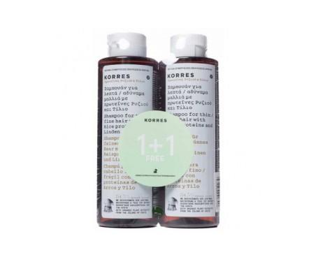Korres riso proteina shampoo 2x250ml
