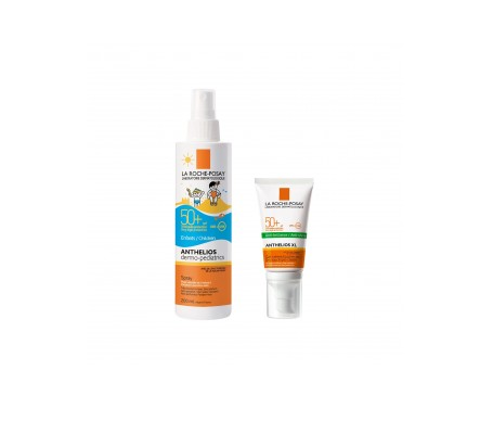 La Roche-Posay  Anthelios Pack dermo-pediatrics spray SPF50+ gel-crema toque seco SPF50+