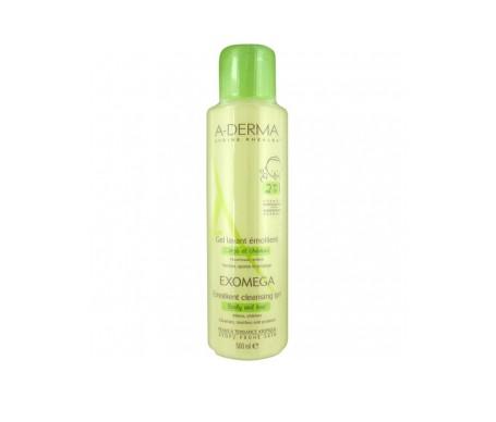 A-derma Exomega 2 en 1 cuerpo y cabello gel limpiador 500ml