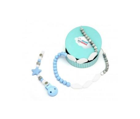 Mami Me Mima Pack Collar mordedor + Sujeta chupetes mordedor sweet blue