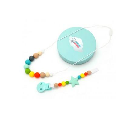 Mami Me Mima Pack Collar mordedor + Sujeta chupetes mordedor multicolor