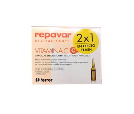 Repavar Revitalizante ampolla efecto flash 5amp 2x1