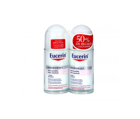 Eucerin® Desodorante piel sensible roll on 2x1