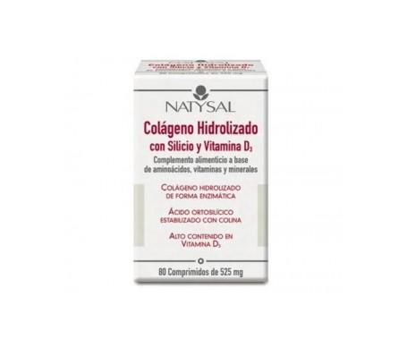 Natysal Colágeno hidrolizado con silicio y vitamina D 80Comp