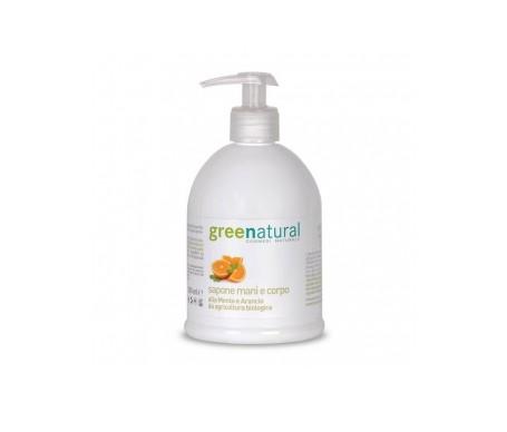 Greenatural Jabón líquido suave con menta y naranja 500ml
