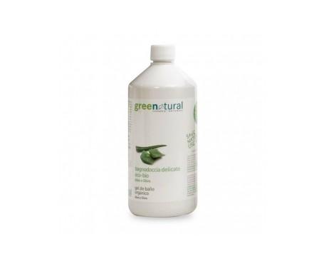 Greenatural Gel de ducha ecológico con aloe vera y oliva 1000ml