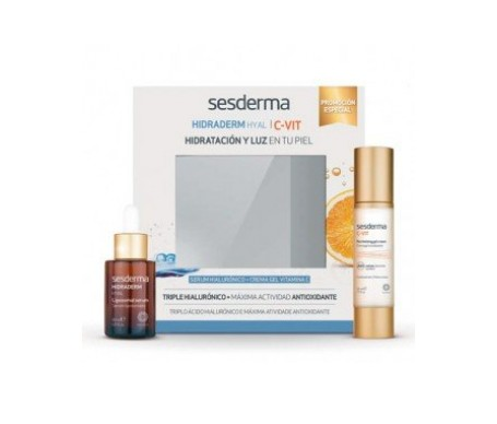 Sesderma Pack Hidraderm Hyal Liposomal Sérum 30ml + C-vit Crema Gel 50ml
