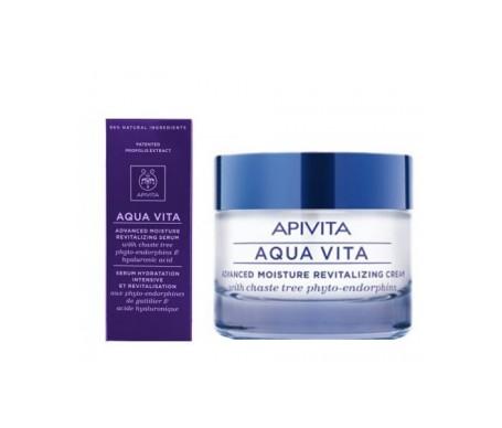Apivita Pack aqua vita sérum hidratante 30ml + Aqua Vita crema hidratante piel grasa-mixta 50ml