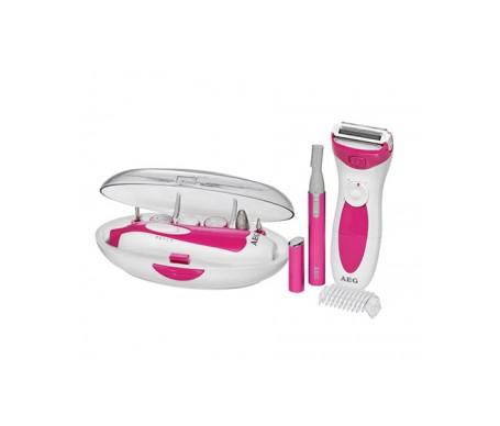 AEG LBS 5676 Set de manicura y pedicura, afeitadora femenina y recortador de cejas